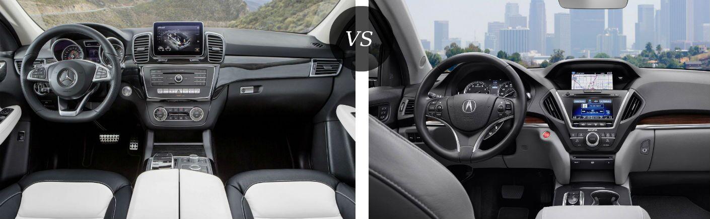 2016 Mercedes-Benz GLE vs 2016 Acura MDX Interior Comparison