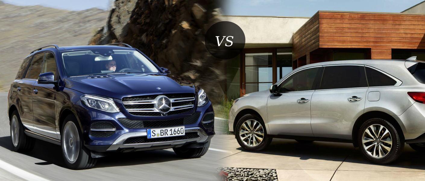 2016 Mercedes-Benz GLE vs 2016 Acura MDX