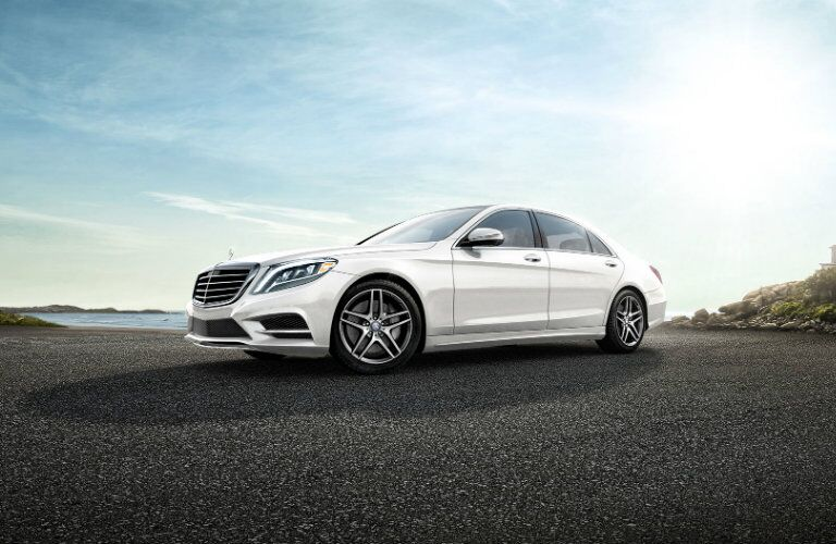 2016 Mercedes-Benz S-Class side view in white