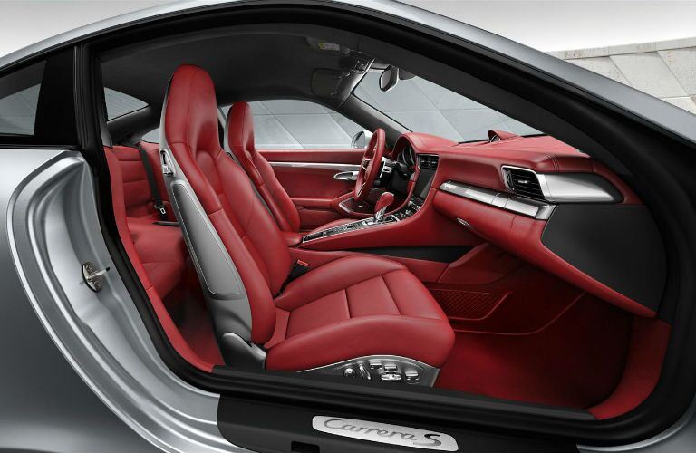 2016 Porsche 911 Carrera Red Interior Leather