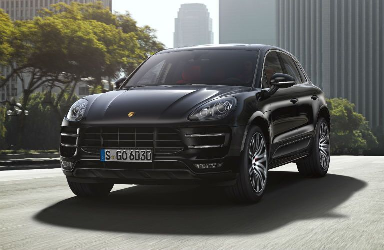 Black Porsche Macan Front End Loeber Motors