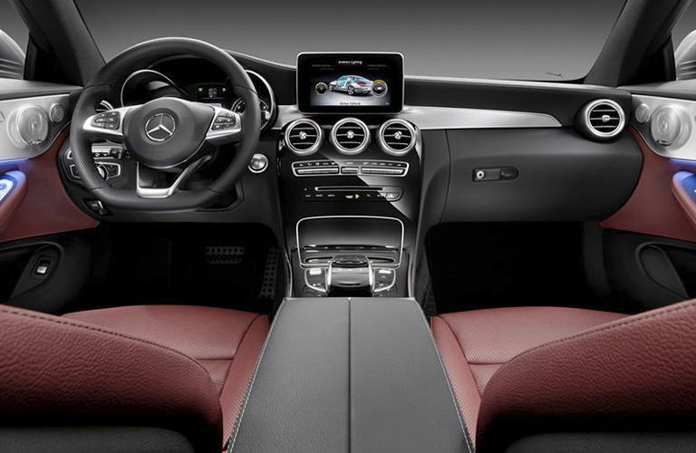 2017 Mercedes-Benz C-Class Coupe Red Seats Loeber Motors