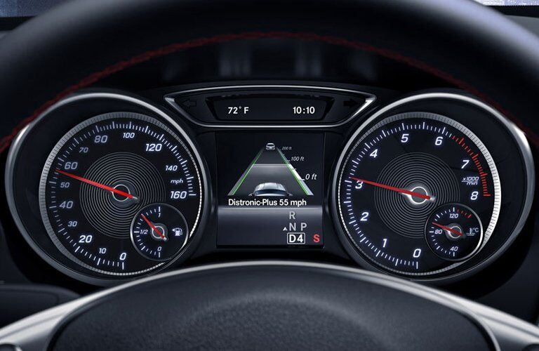 2017 Mercedes-Benz CLA250 4MATIC interior gauges and trip computer