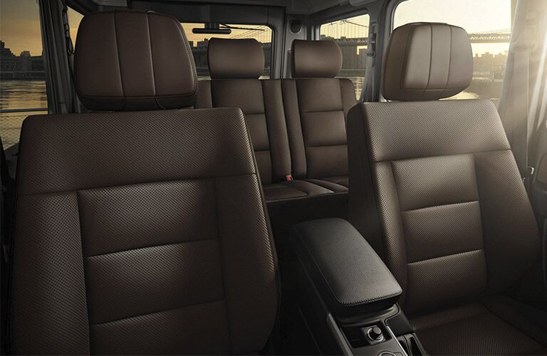 seating area inside the 2018 Mercedes-Benz G-Class