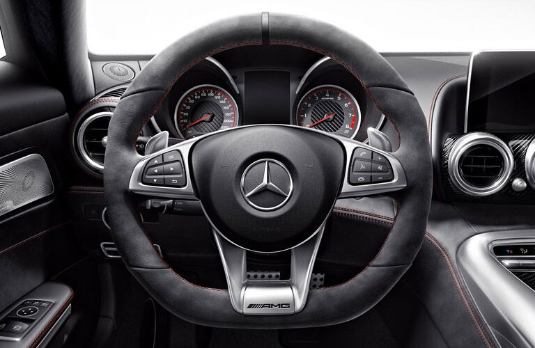 2017 Mercedes-AMG GT S sport steering wheel