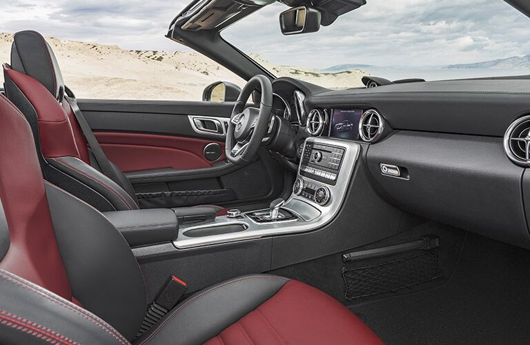 2017 Mercedes-Benz SLC Red and Black Interior