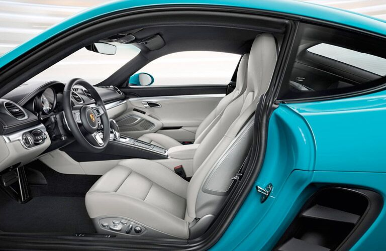 2017 Porsche 718 Cayman redesigned interior driver's side