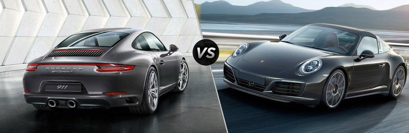 2017 Porsche 911 Carrera 4 vs 2017 Porsche 911 Targa 4