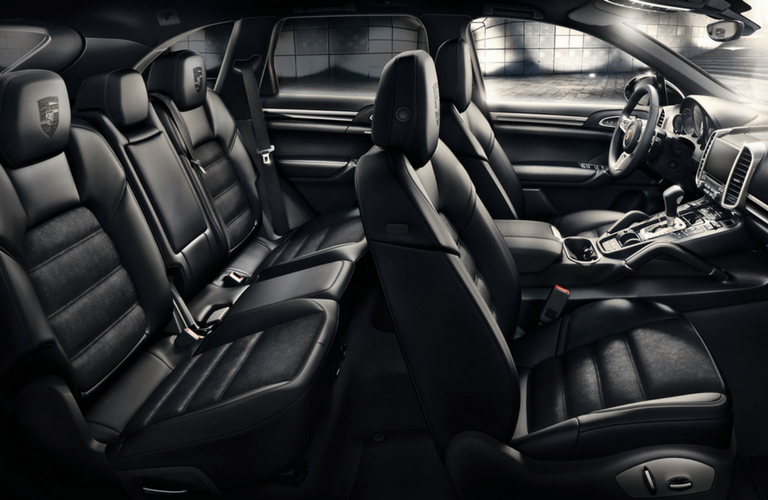 2017 Porsche Cayenne S interior passenger space front and second row