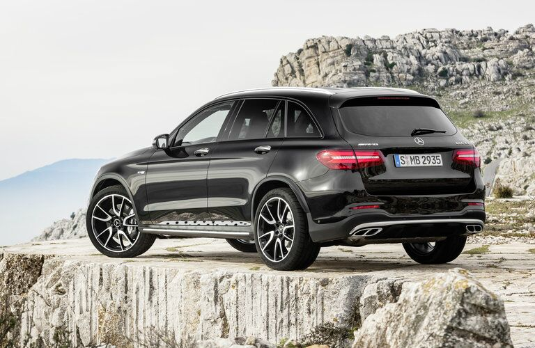 2017 Mercedes-AMG GLC43 rear view