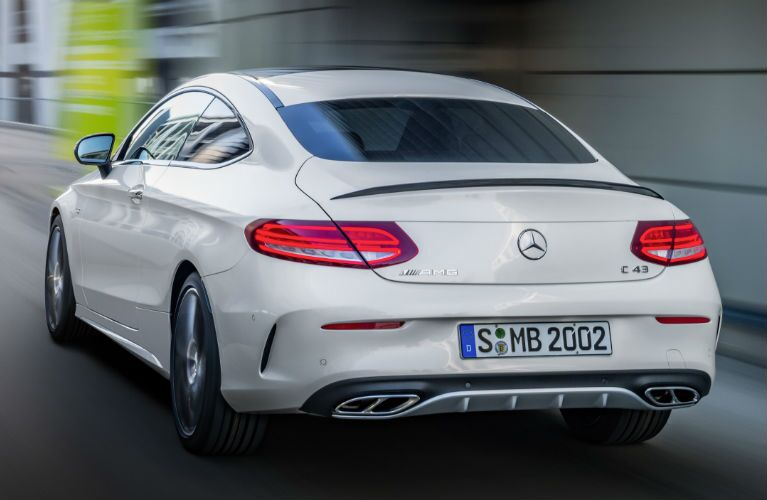 2017 Mercedes-AMG C43 Coupe Rear Trunk Dual Exhaust