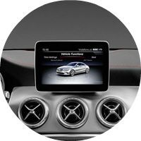 2017 Mercedes-Benz CLA 8-inch media display