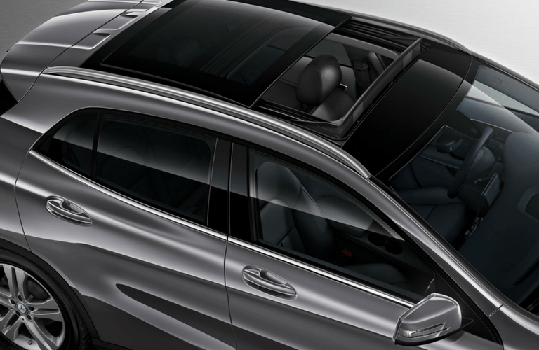 2017 Mercedes-Benz GLA overhead view with moonroof open