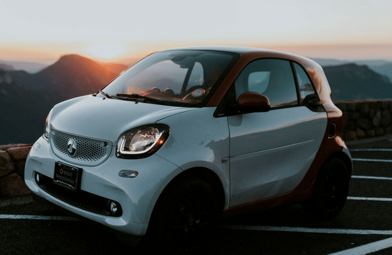 2017 smart fortwo passion coupe at dusk