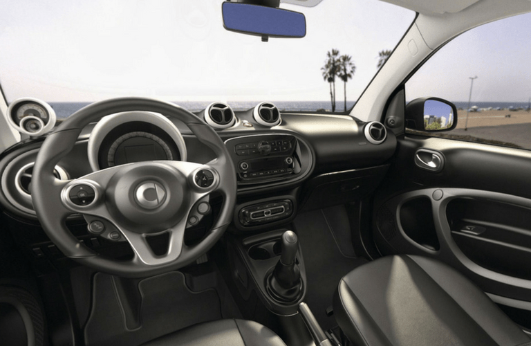 2017 smart fortwo pure coupe interior front