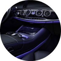 2017 Mercedes-Benz S-Class LED Interior Lighting