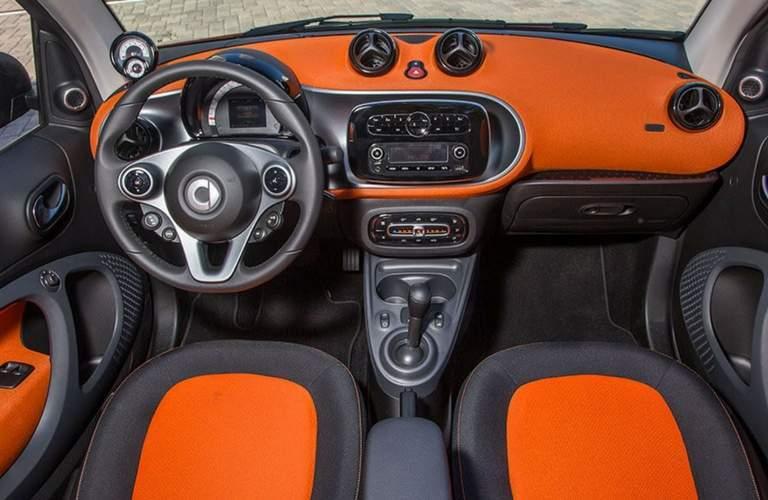 2017 smart fortwo passion cabrio interior front