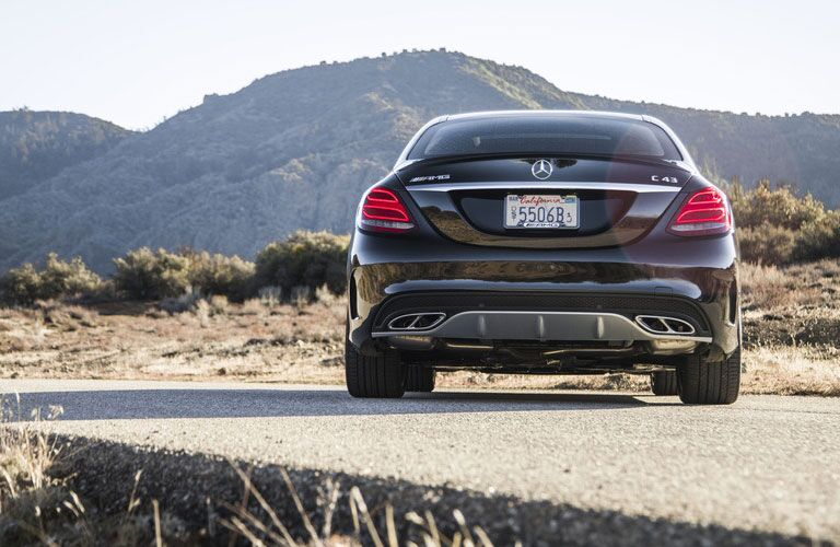rear of the 2018 Mercedes-Benz AMG C 43
