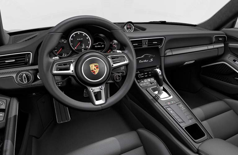 2018 Porsche 911 Turbo S interior view