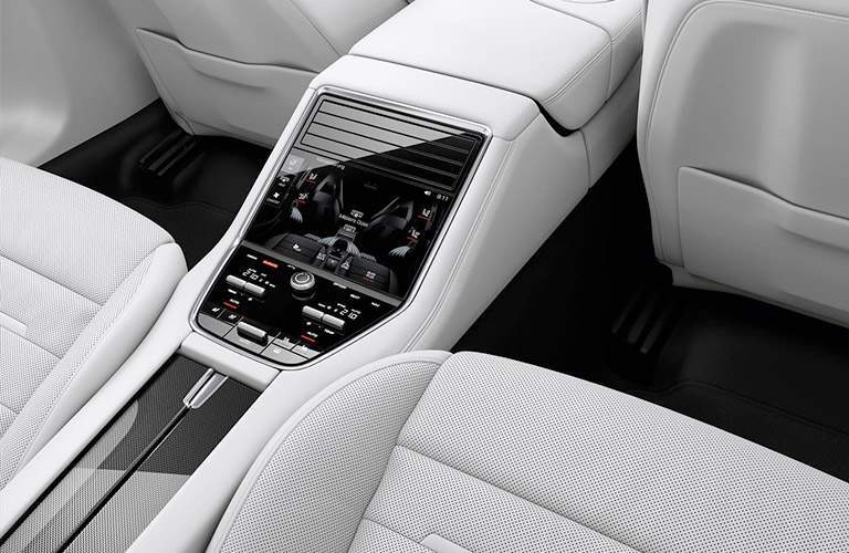 2018 Porsche Panamera interior second row center console