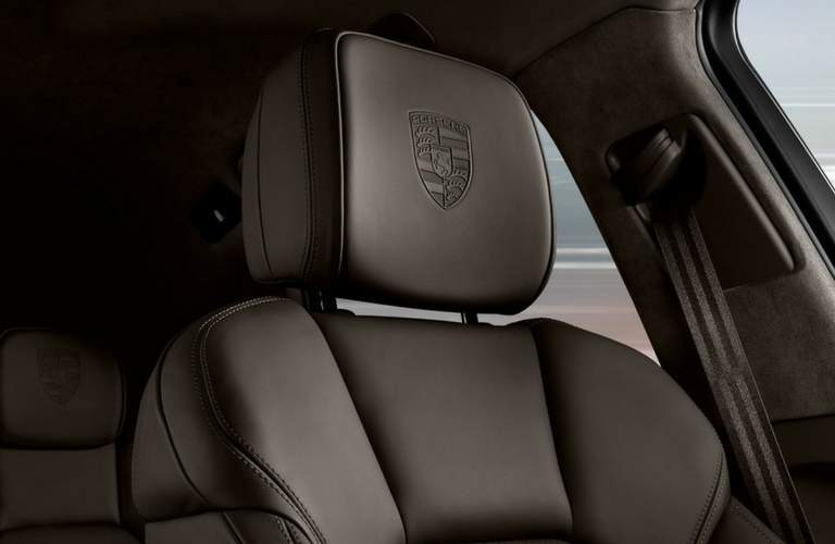 2018 Porsche Macan headrest with porsche emblem