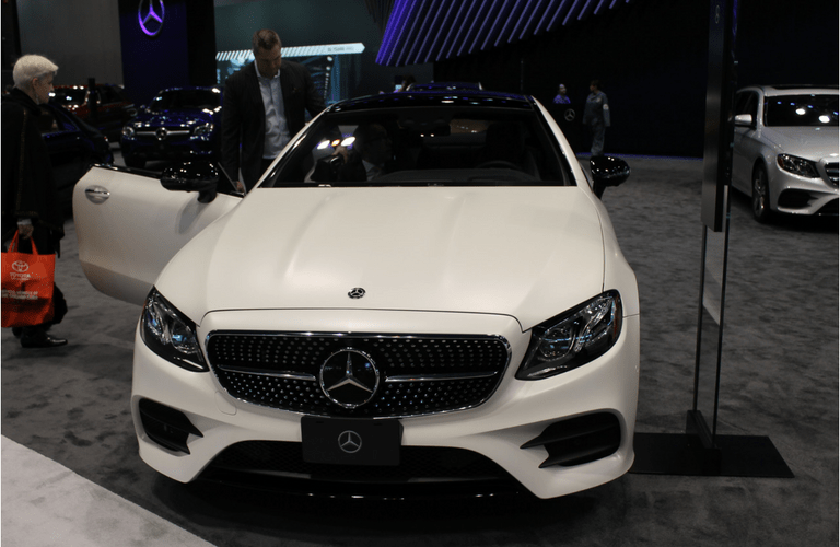 2018 Mercedes-Benz E-Class exterior front at the chicago auto show