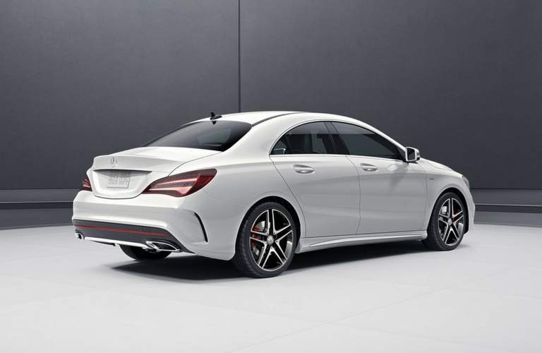 2018 Mercedes-Benz amg CLA 45 exterior rear in white