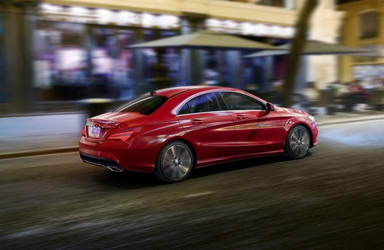 2018 Mercedes-Benz amg CLA 45exterior side in red