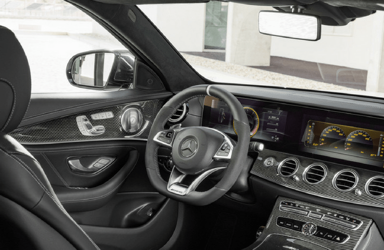 2018 Mercedes-AMG E63 interior front steering wheel
