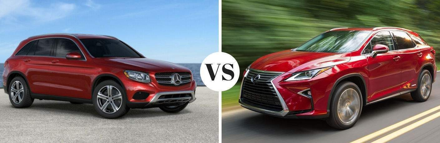 Comparison image of the 2018 Mercedes-Benz GLC 4MATIC® vs 2018 Lexus NX 300 AWD