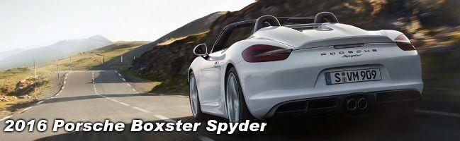 2016 Porsche Boxster Spyder Chicago IL Loeber Motors