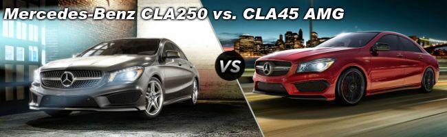 2015 Mercedes-Benz CLA250 vs Mercedes-Benz CLA45 AMG