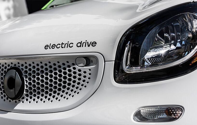 exterior front grille of the 2018 smart fortwo electric drive pure coupe