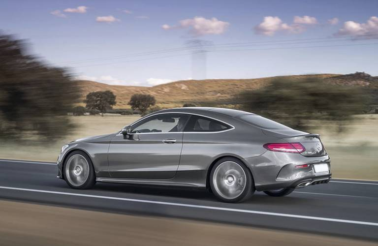 gray 2017 Mercedes-Benz C300C side profile