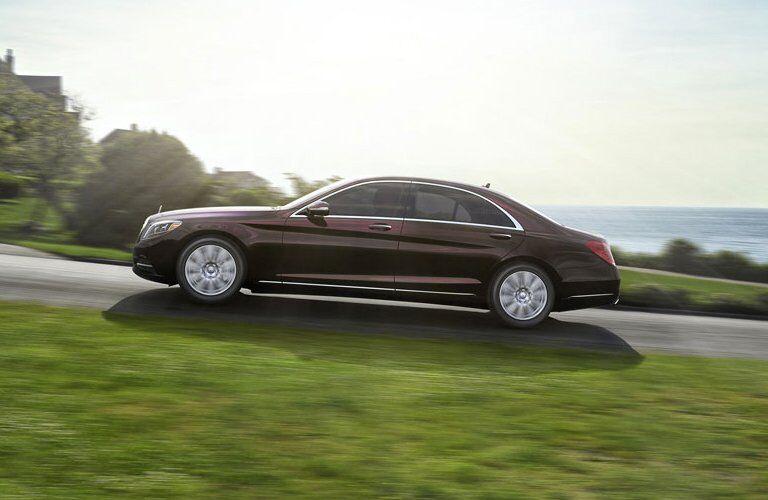 black 2017 Mercedes-Benz S-Class side profile