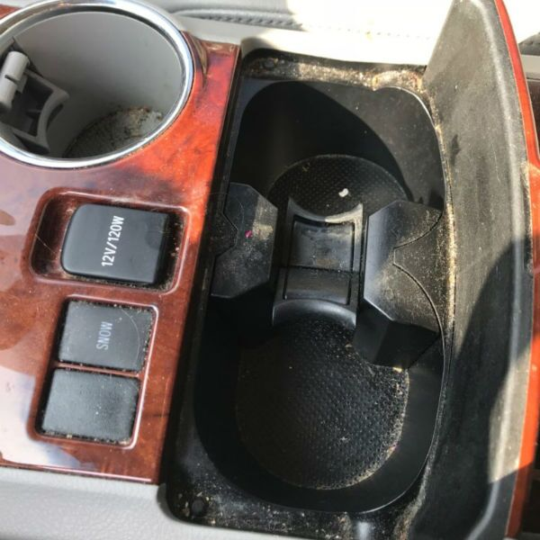 Before Image of Center Console Cup Holders