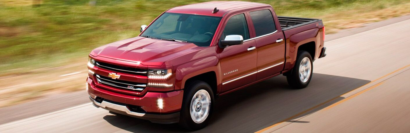 2017 Chevy Silverado on the road