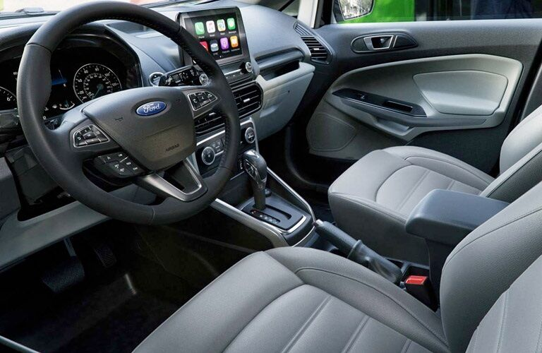 Front seat interior of the 2018 Ford EcoSport