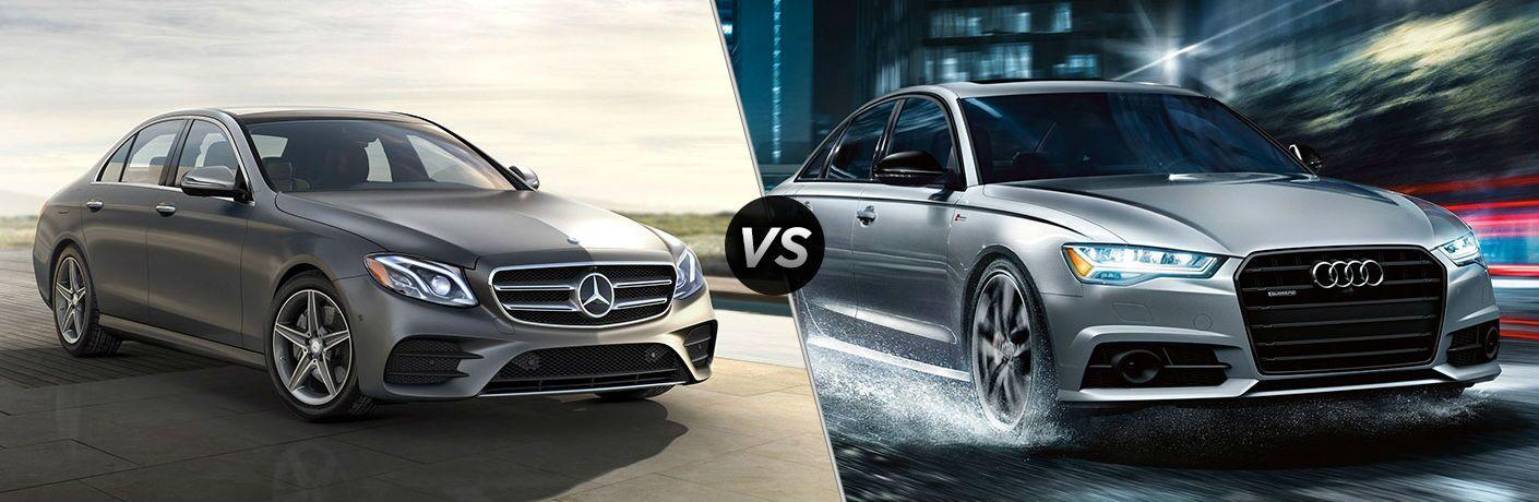 2018 Mercedes-Benz E-Class 4MATIC<sup>®</sup> vs 2017 Audi A6