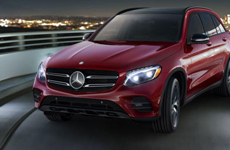 2017 Mercedes-Benz GLC 4MATIC® driving at night