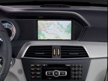 Audio and Navigation Controls of Mercedes-Benz Vehicle