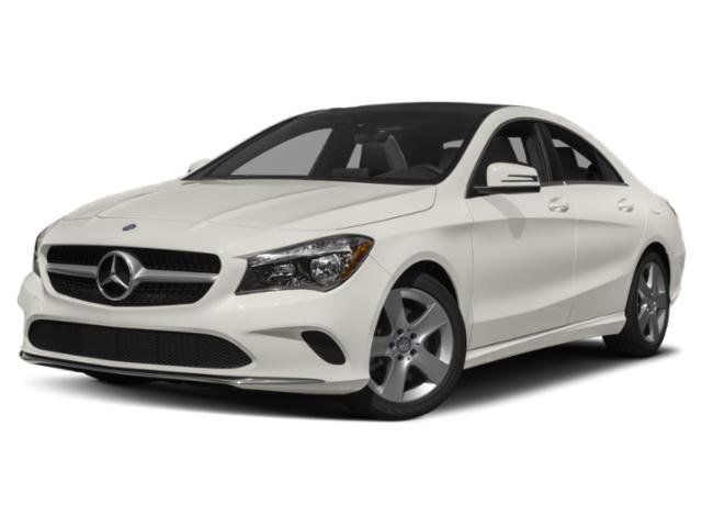 Side View of White Mercedes-Benz CLA