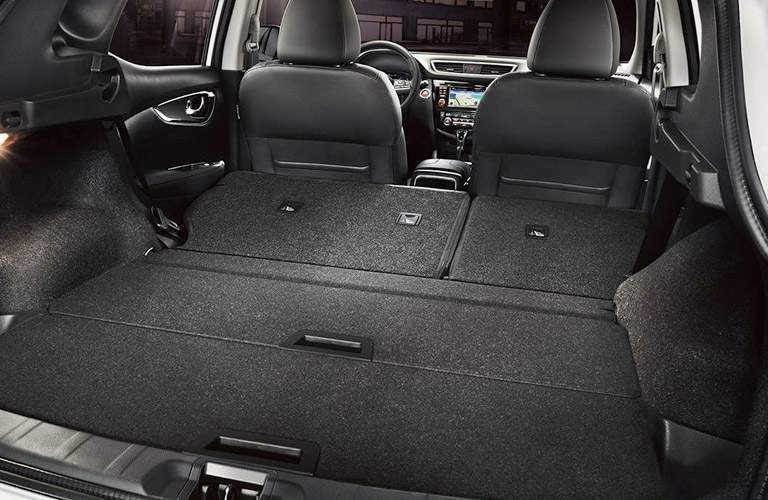 2017 Nissan Rogue Sport cargo area with second row folded flat