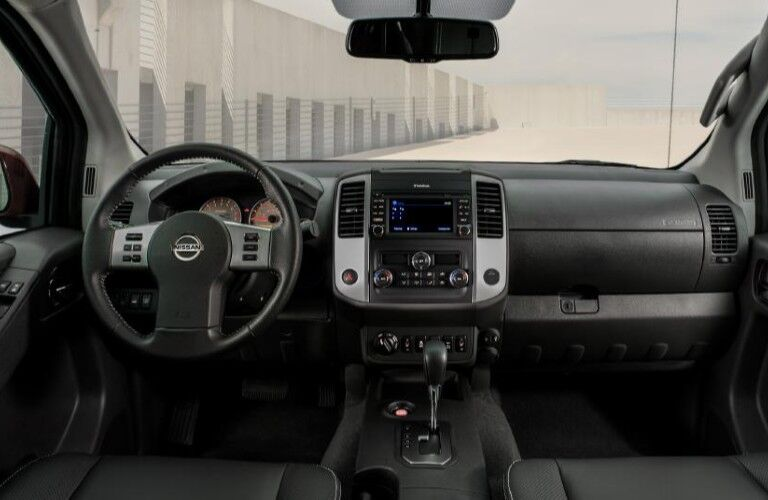 2020 Nissan Frontier dashboard and steering wheel