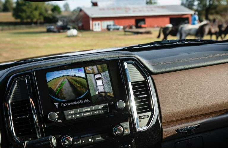 2020 Nissan TITAN XD rearview camera display screen