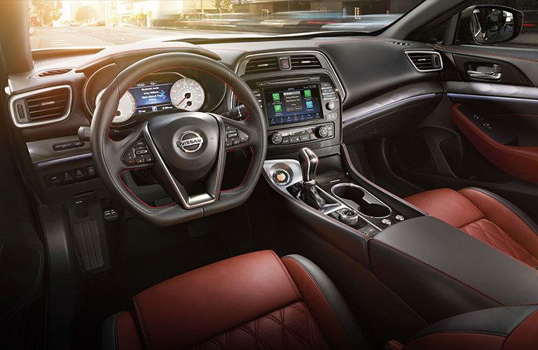 2021 Nissan Maxima dashboard and steering wheel
