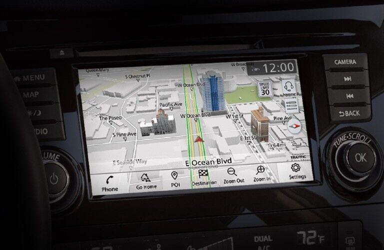 2021 Nissan Rogue Sport navigation screen