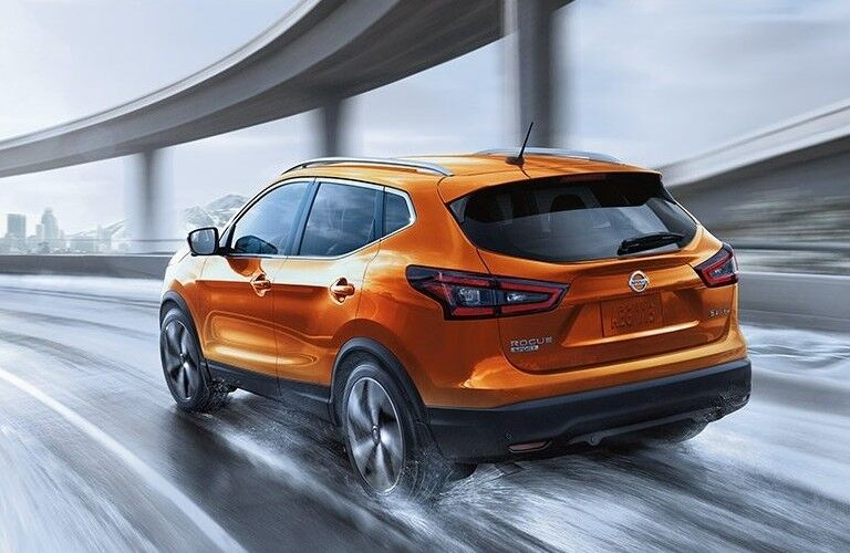 2021 Nissan Rogue Sport driving on a road
