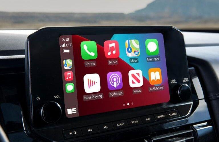 2022 Nissan Pathfinder touchscreen display