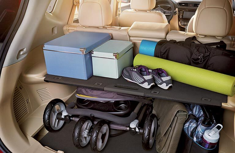 innovative storage in back of 2018 nissan rogue